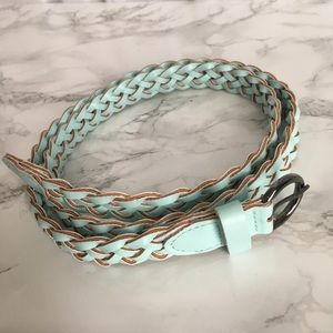 Seafoam Green Braided Belt
